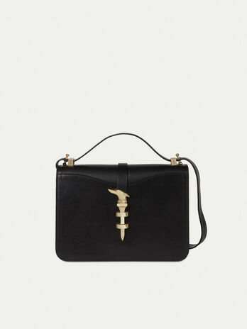 Medium Leila Cacciatora bag in smooth leather