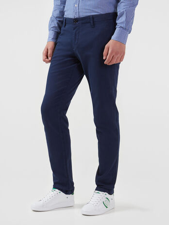 Aviator fit trousers in stretch cotton cavalry