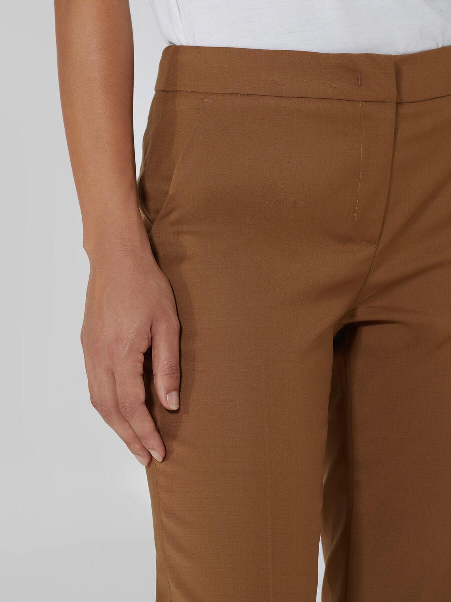Cropped Hose aus Wollstoff
