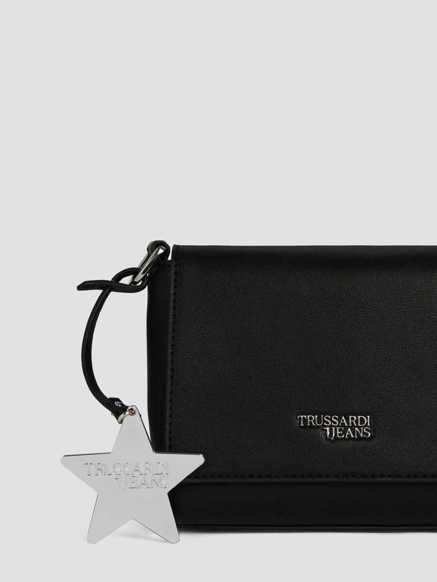 Faux leather T-Easy Cacciatora mini bag with stars