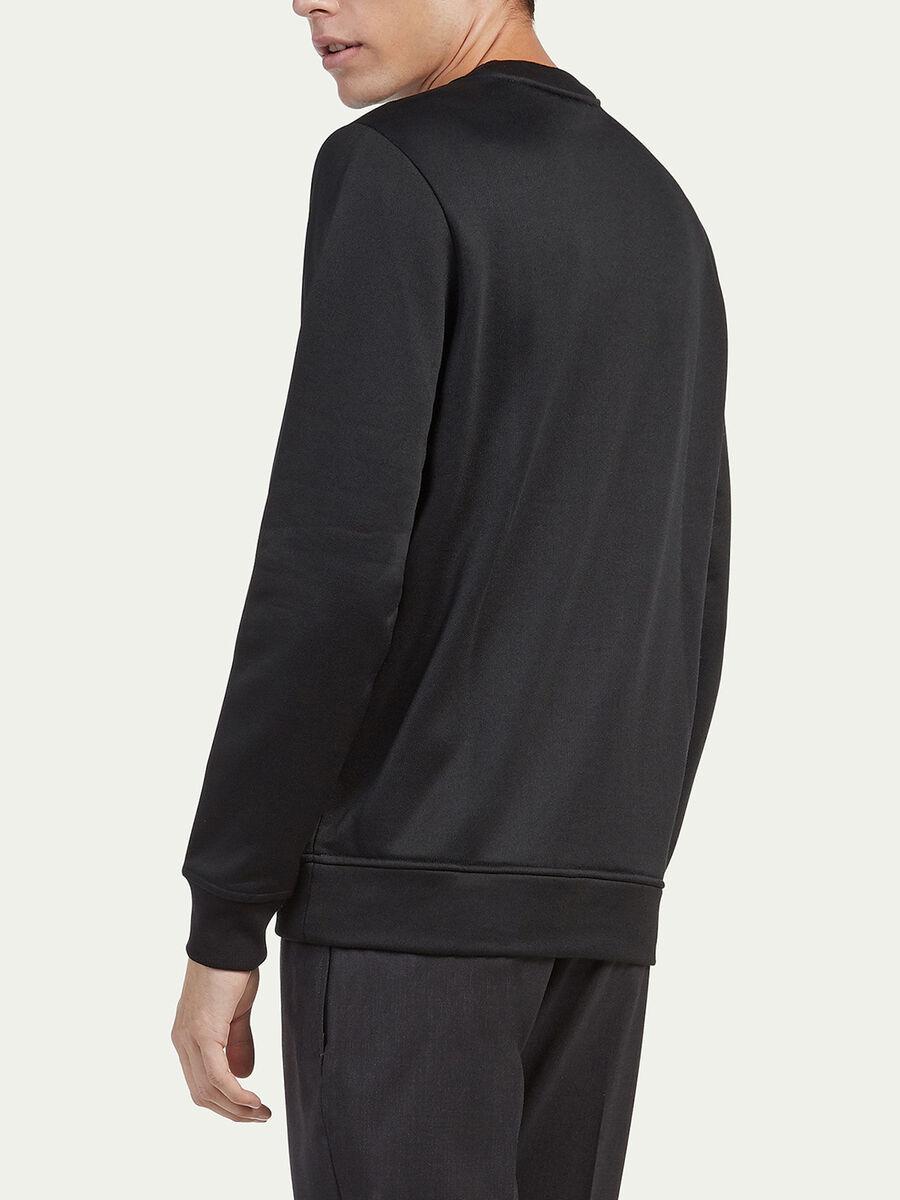 Sweat-shirt coupe classique en tissu technique