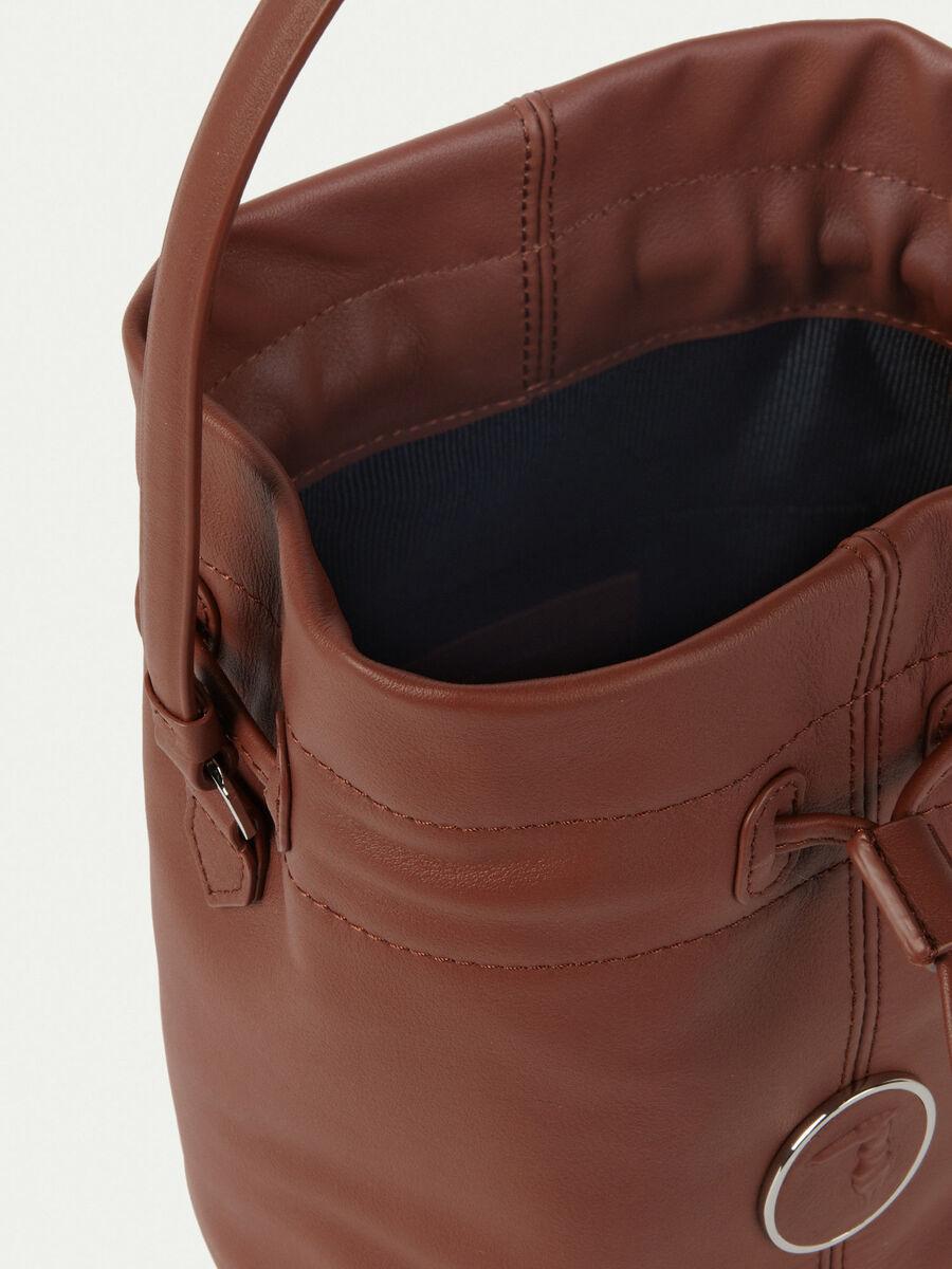 Nappa leather bucket bag