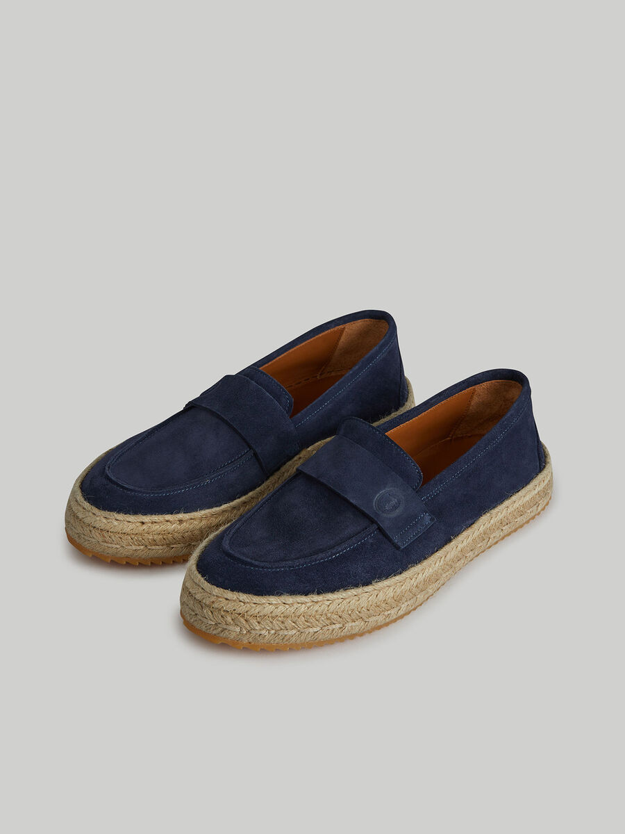 Suede and rope espadrilles