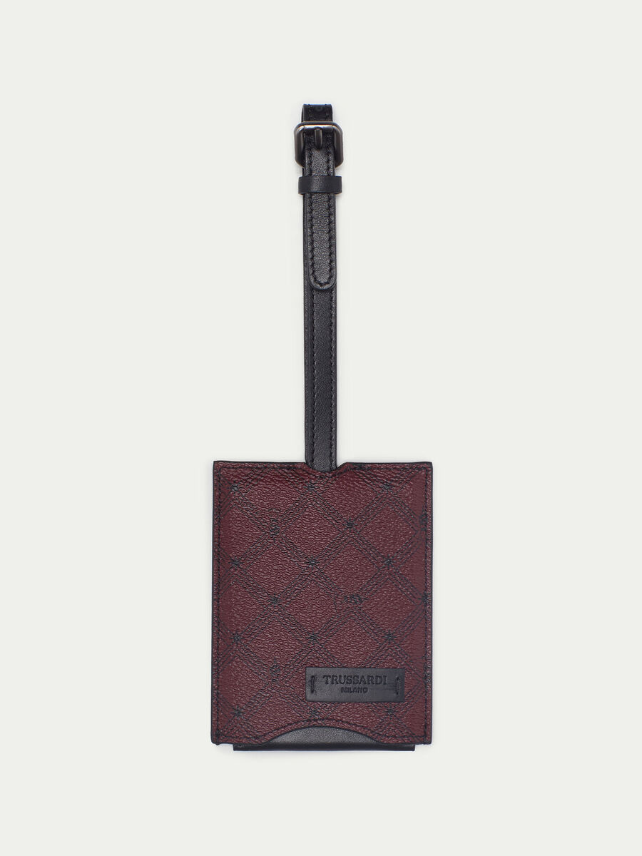 Crespo leather Monogram luggage tag