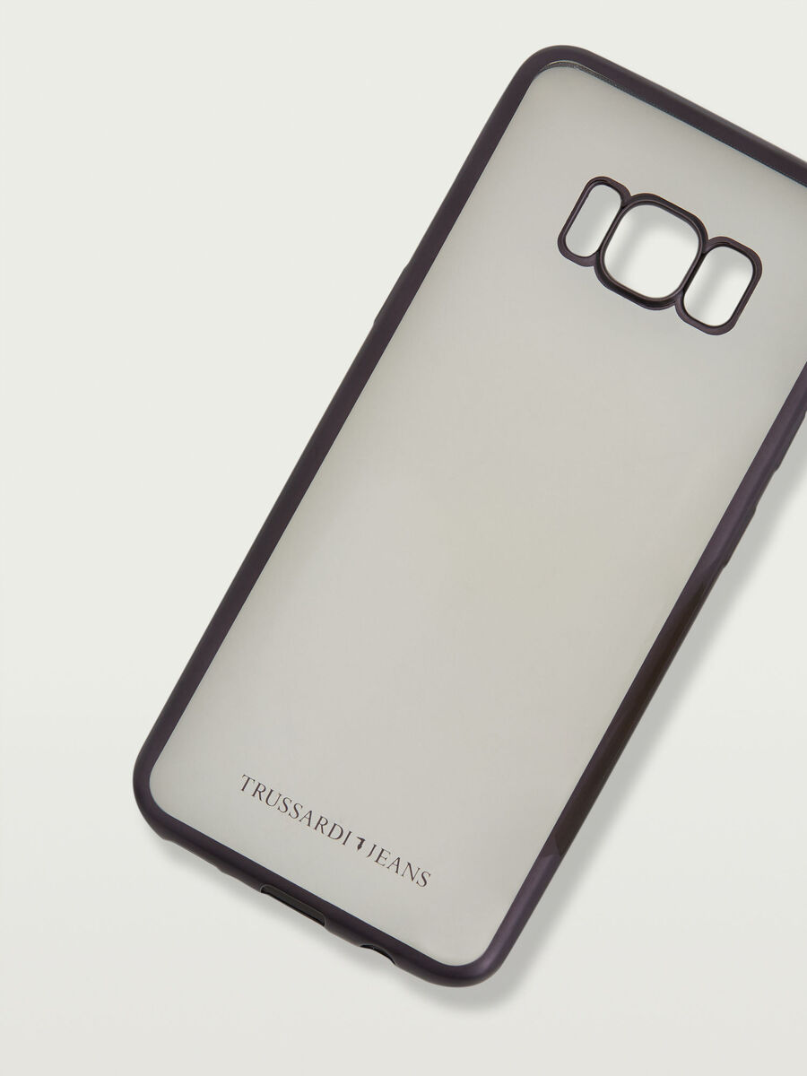 Transparent Galaxy S8 soft case with logo