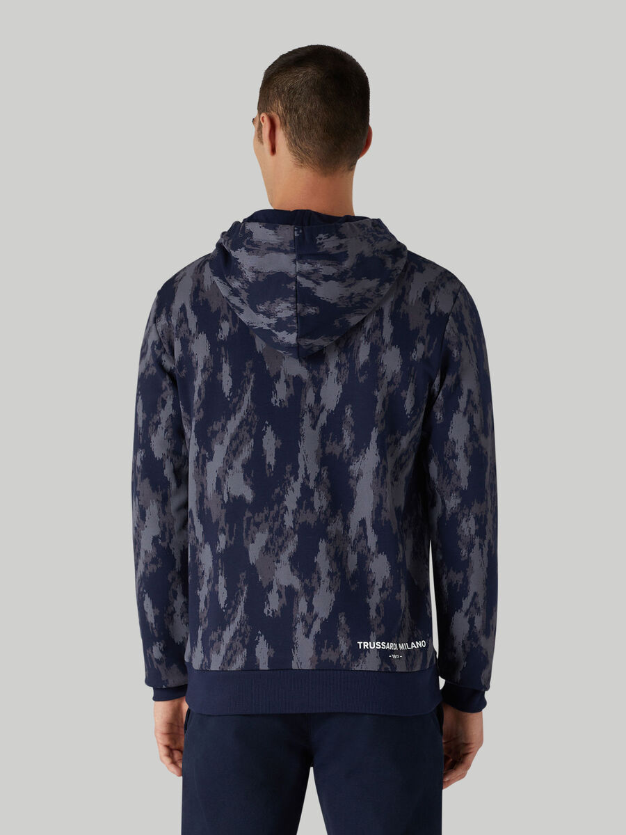 Camouflage cotton hoody