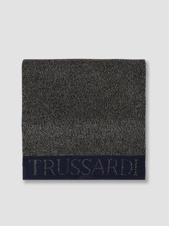 Schal aus zweifarbigem Wollmix mit Lettering