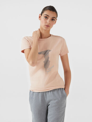 T-shirt regular fit in cotone stampa logo
