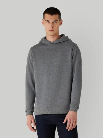 Regular-fit cotton melange hoody