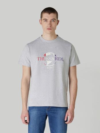 T-shirt boxy fit in puro cotone con logo