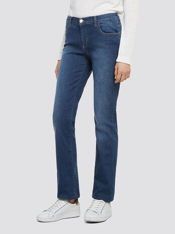 Stonewashed stretch jeans