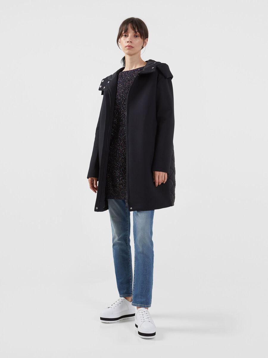 Neoprene and nylon coat