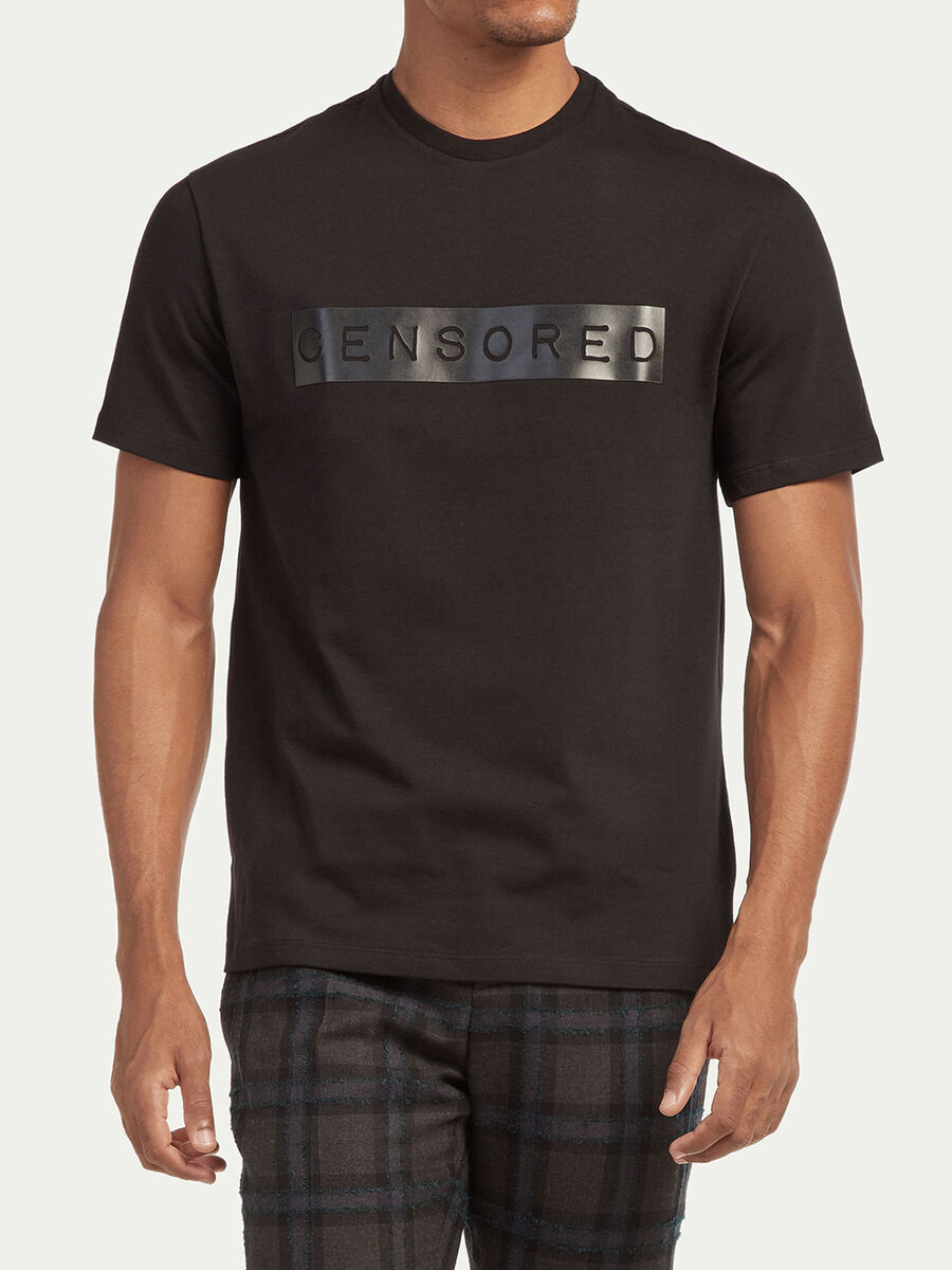 Over Fit T Shirt aus Compact Jersey mit Lettering