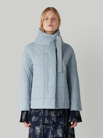 Short soft nylon down jacket