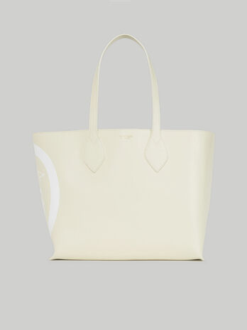 Medium saffiano leather shopper