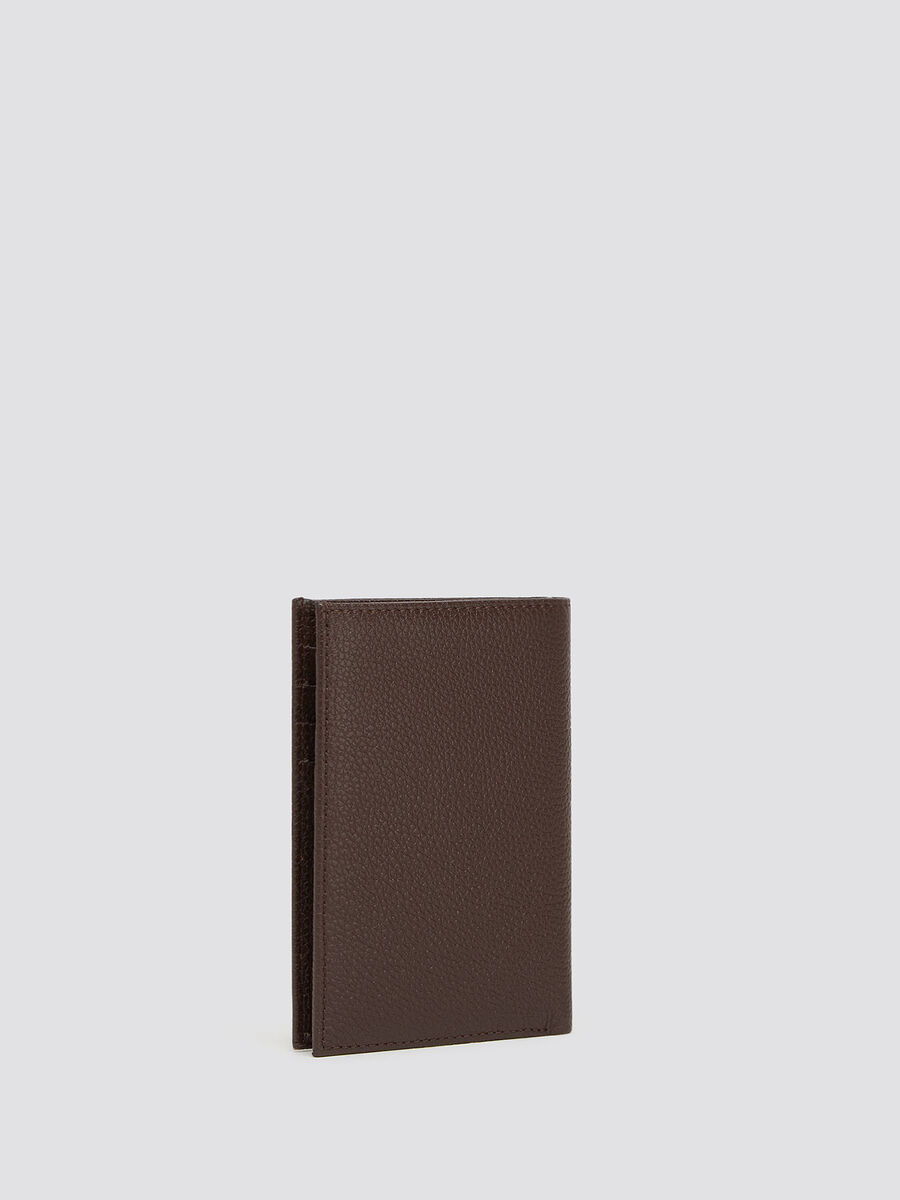 Crespo leather vertical wallet