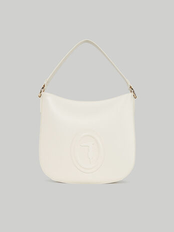 Hobo bag medium Lisbona in similpelle liscia