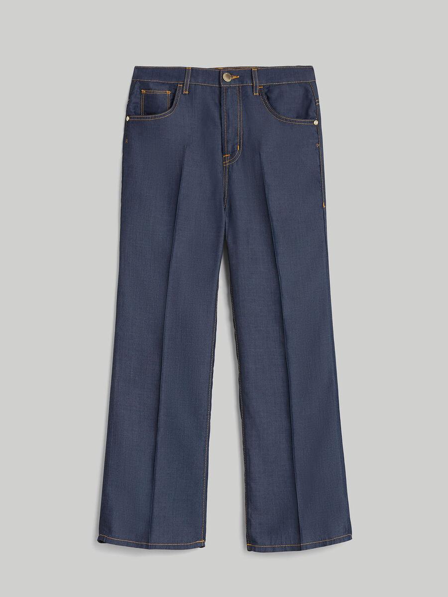 Pantalon de corte amplio de denim tencel