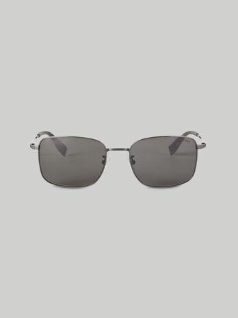 Occhiali da sole rettangolari in metallo