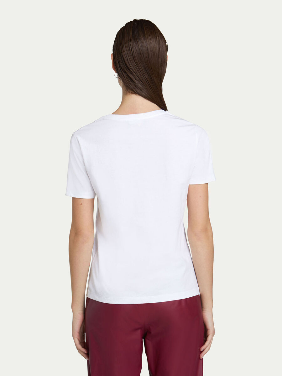 Regular fit jersey T-shirt with maxi lettering