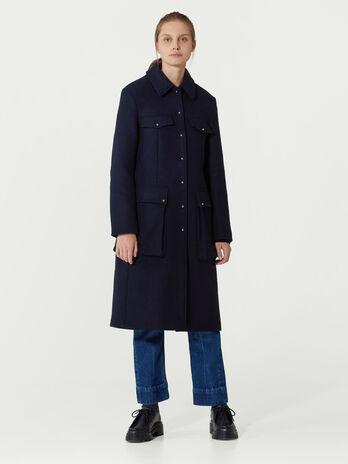 Single breasted woollen coat
