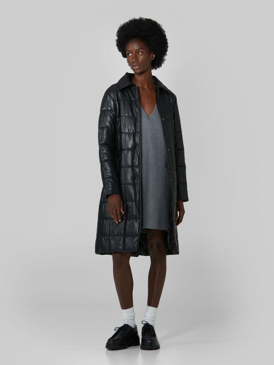Short melange fabric dress