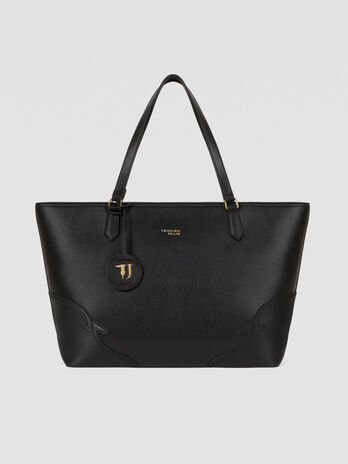 Sac tote Deco Edge grand format en similicuir