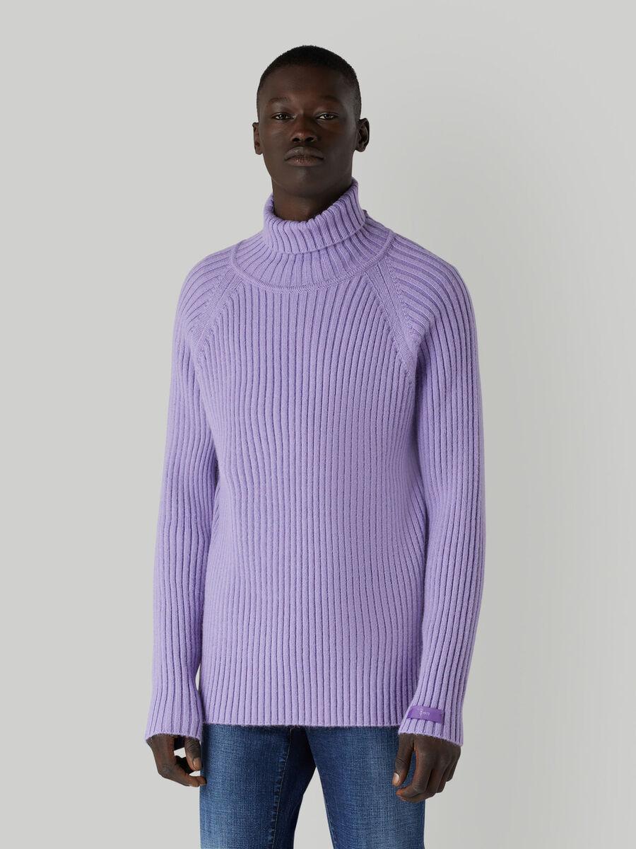 Regular-fit mohair-blend high-neck pullover