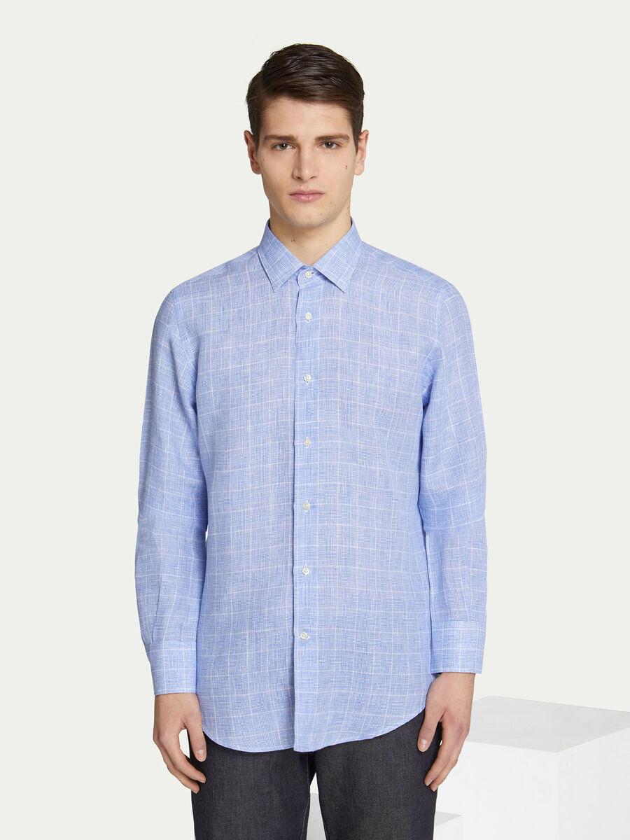 Camicia regular fit a righe con colletto classico