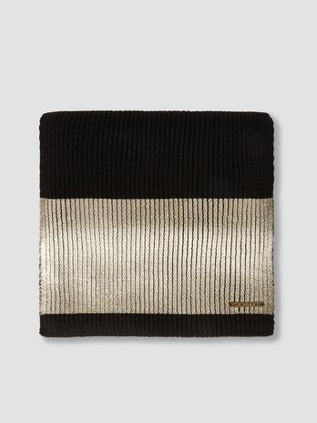 Bufanda de mezcla de lana revestida con plaquita