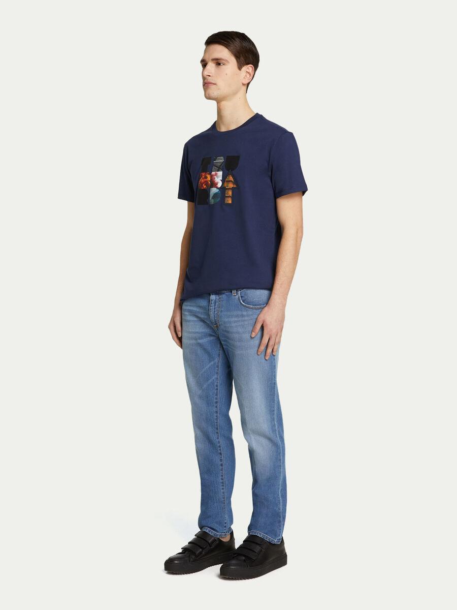 T shirt regular fit jersey di cotone con stampa logata