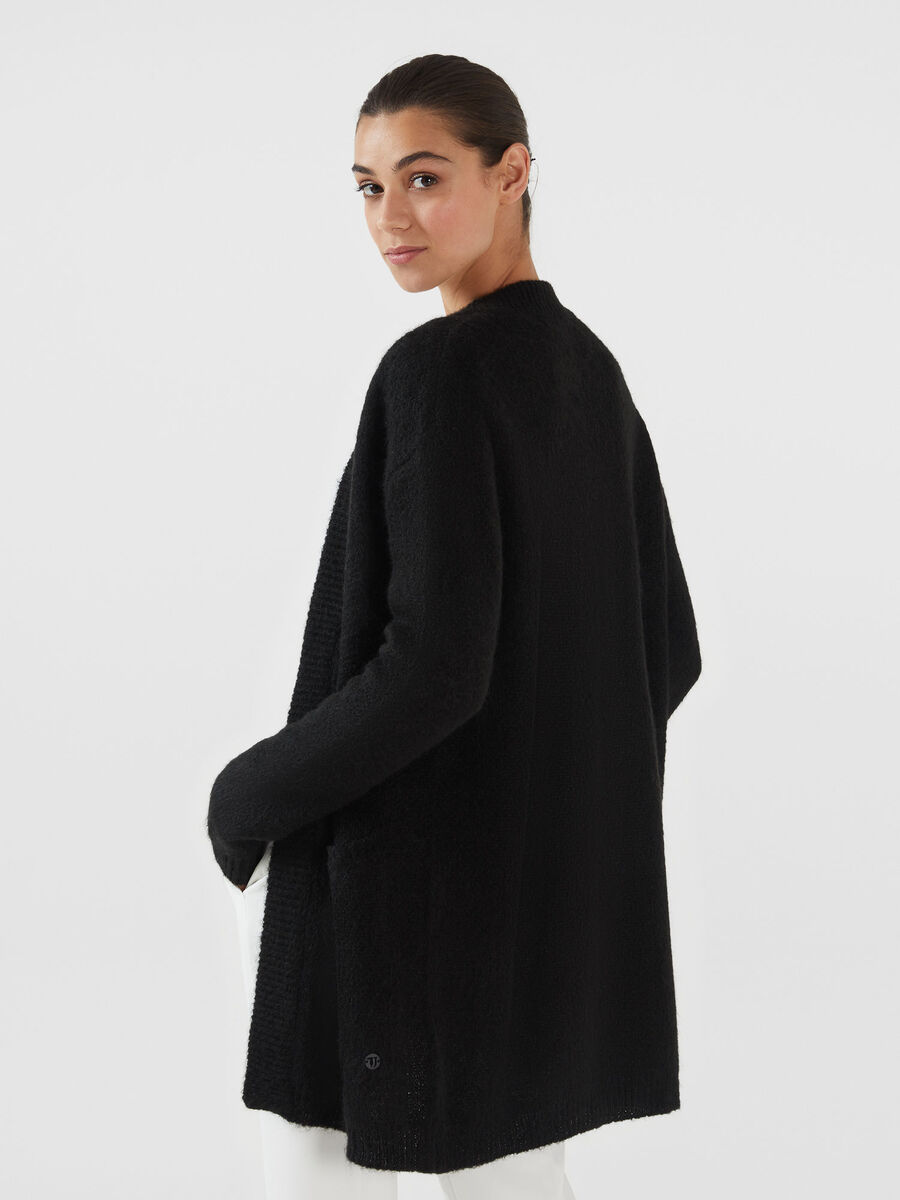 Oversized mohair blend cardigan