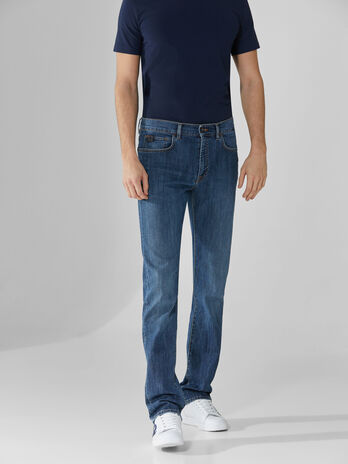 Icon 380 jeans in blue Broken denim