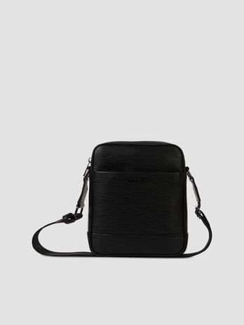 Medium Cortina reporter bag in faux saffiano leather