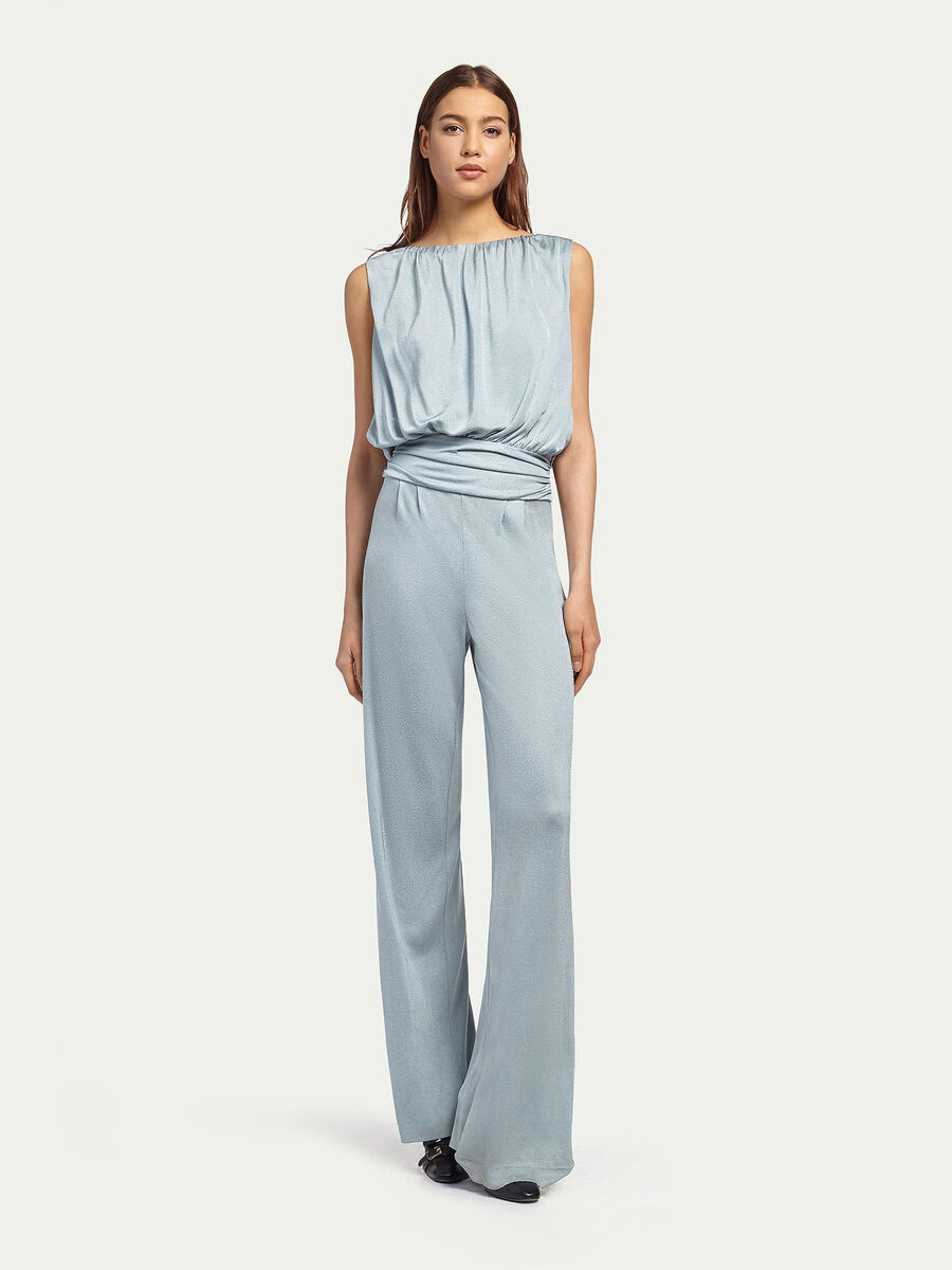 Jumpsuit with drape detail