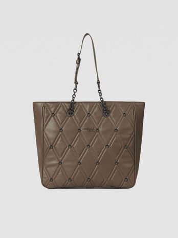 Small T-Cube Q tote bag in faux leather