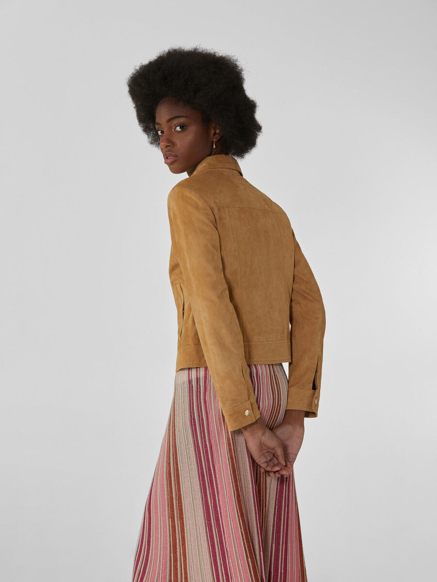 Suede jacket with lapels
