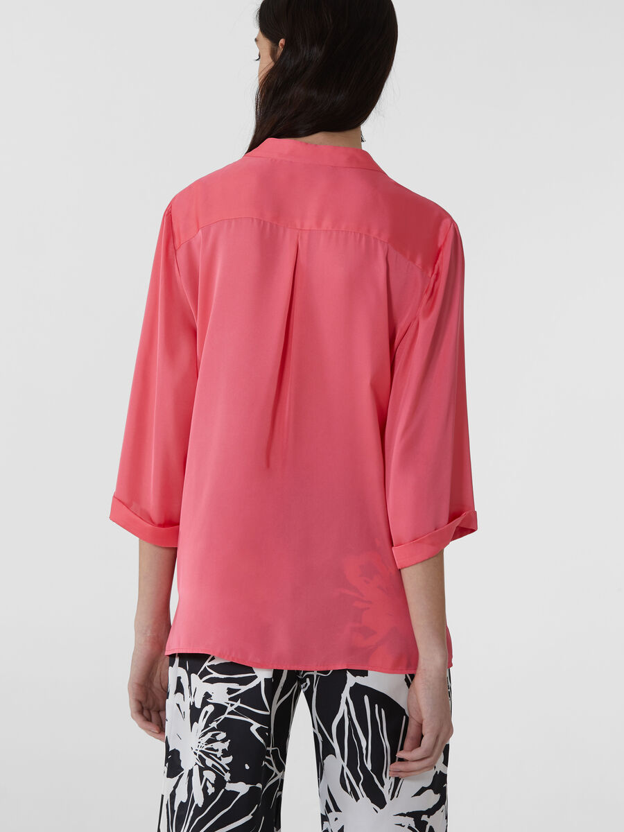 Oversized blouse in light satin