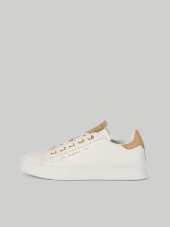 Sneaker Anemone in pelle con lettering