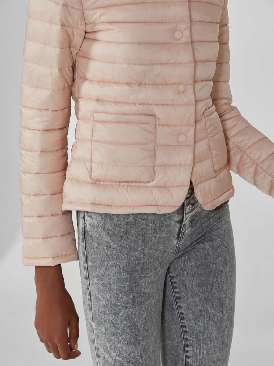 Quilted light nylon down jacket