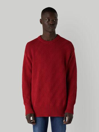 Regular-fit patterned cotton pullover