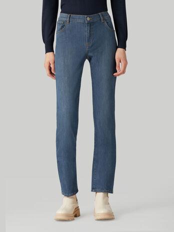 Jeans 130 classic in denim Green Cast