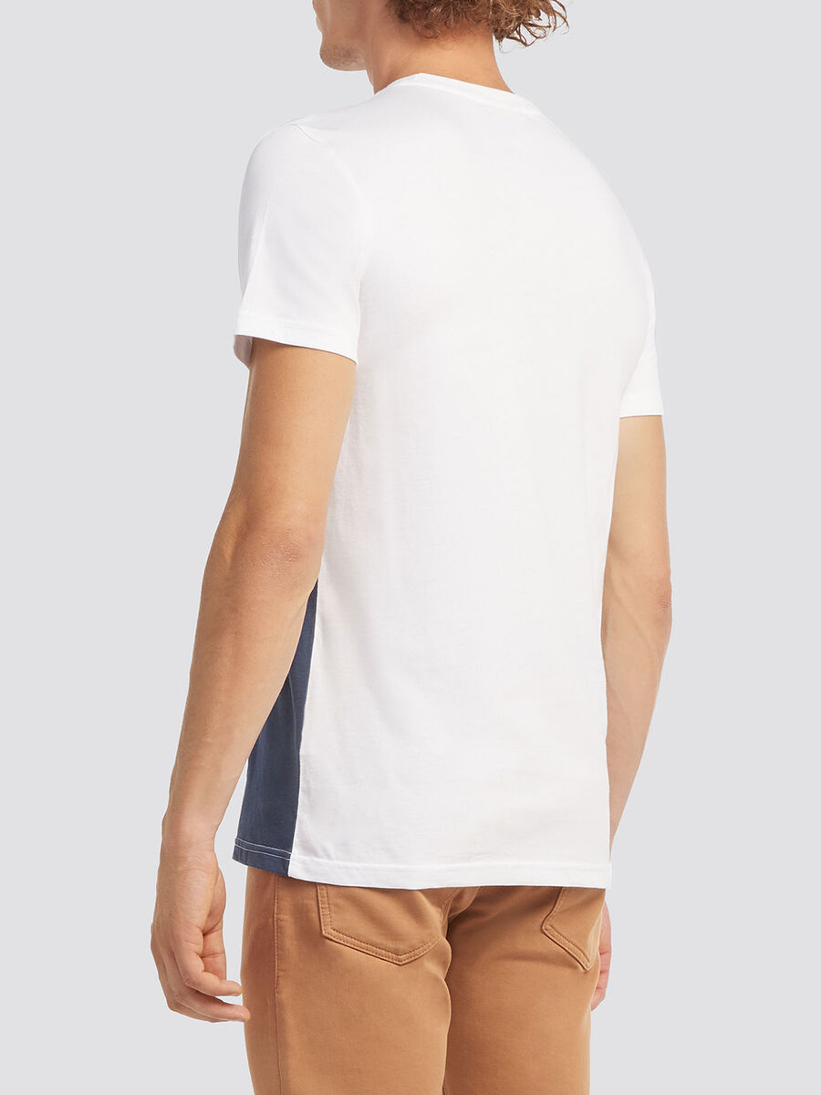 Two tone T shirt with lettering print