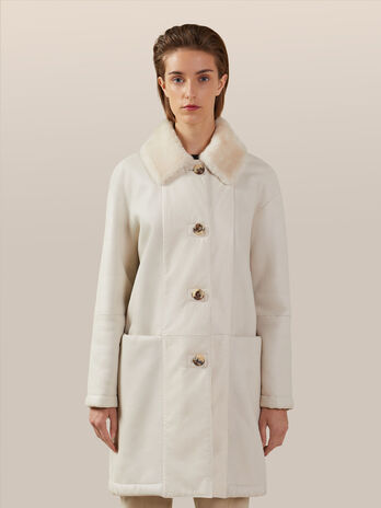 Regular fit shearling coat