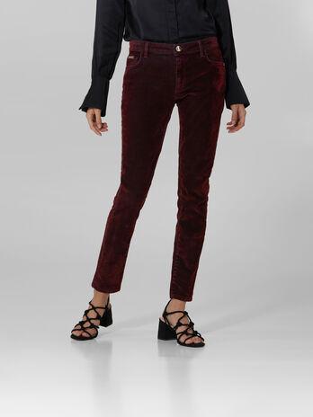 Jeans 206 super skinny in denim floccato