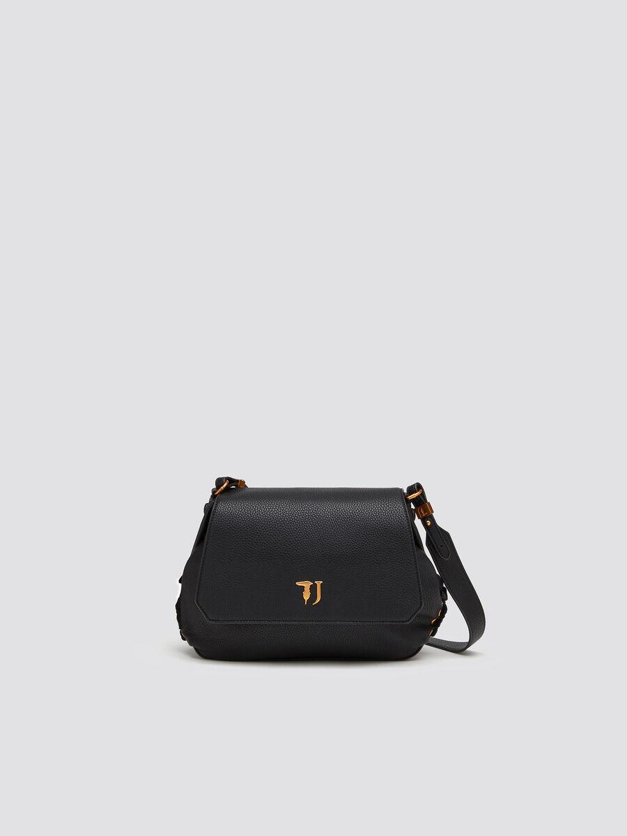 ba1ea2c35e Faux leather Lavanda shoulder bag with golden logo | Trussardi ®