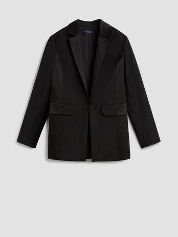 Blazer tuxedo in mista lana