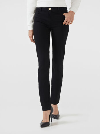 Skinny 105 jeans in  black diego denim
