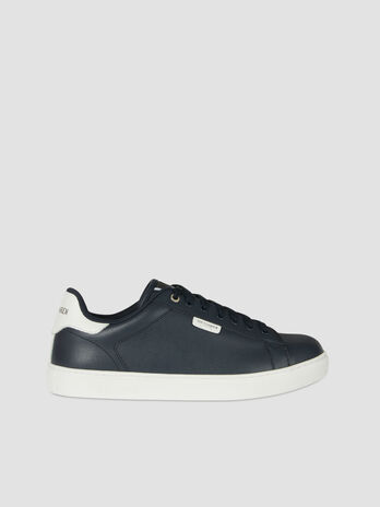 Sneaker low top in pelle