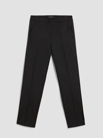 Wool blend tuxedo trousers
